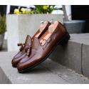 Yanko Tassel loafer mörkbrunt läder