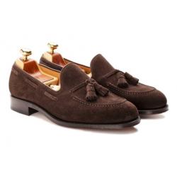 Yanko Tassel loafer mörkbrun mocka