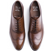 TLB Faux Wingtip Vegano Brown