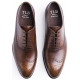 TLB Faux Wingtip Old England Medium Brown