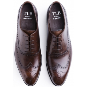 TLB Faux Wingtip Old England Brown