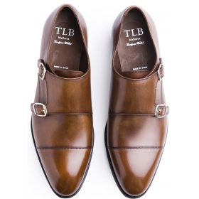 TLB Plain Double Monk Old England Medium Brown