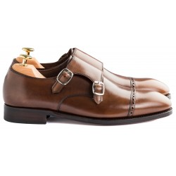 TLB Brogued Double Monk Vegano Brown