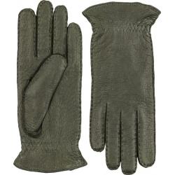 Hestra handsydd handske kashmirfodrad peccary mörkgrön
