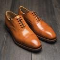 UK9,5 Yanko plain cap toe oxford tan patina