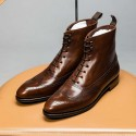 TLB Mallorca Balmoral wingtip boot Old England brown GMTO