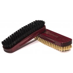 Shoe brush with boar bristles