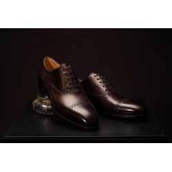 TLB Artista Brogued Cap Oxford Vegano Dark Brown