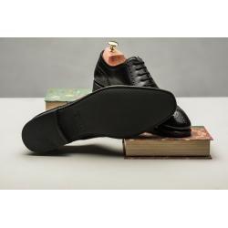 TLB Black Full Brogue rubber sole GMTO