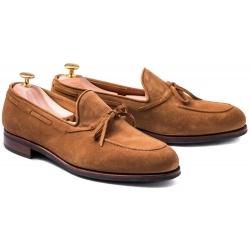 Skolyx String Loafer i ljusbrun mocka