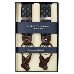 Albert Thurston braces navy with red-blue-yellow pattern