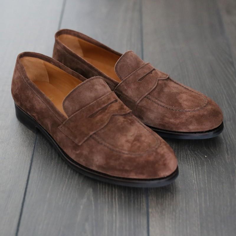 UK9,5 Skolyx penny loafer brun mocka