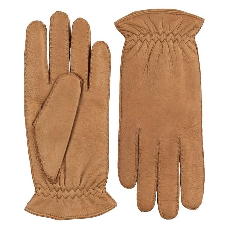 Hestra handsydd handske kashmirfodrad älg kork