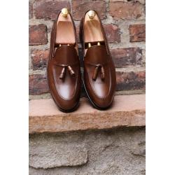 Skolyx mörkbrun tassel loafer