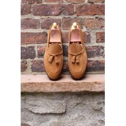 Skolyx Tassel Loafer i ljusbrun mocka