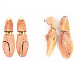Two models of cedar shoe trees