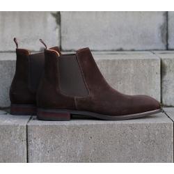 Chelsea boot mörkbrun mocka