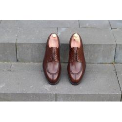 Split toe derby dark brown leather