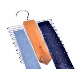 Tie hanger in cedar wood