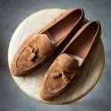 Yanko Tassel loafer ljusbrun mocka