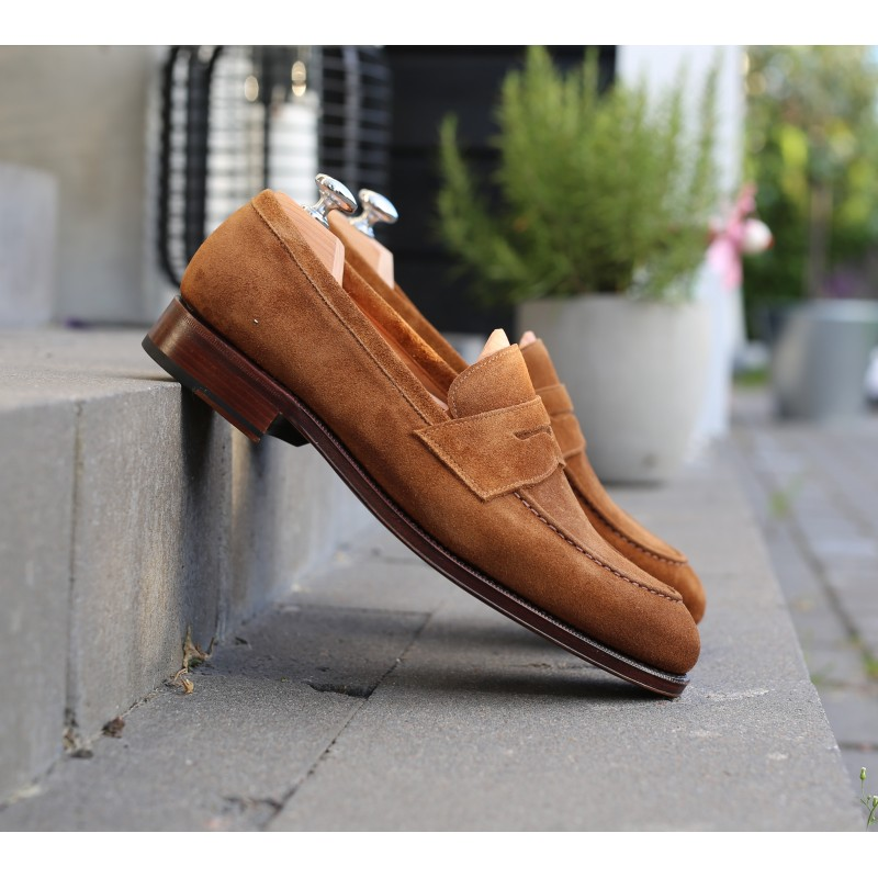 Yanko penny loafer light brown suede