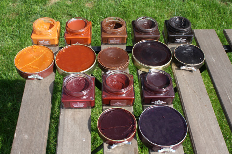 Hand painting with leather dye - Skolyx